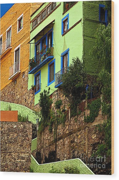 Casa Lima On The Hill Wood Print by Mexicolors Art Photography