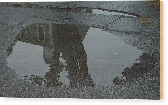 Casa Uno Puddle Wood Print by Ron Sylvia