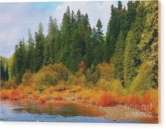 Cascade Autumn Wood Print
