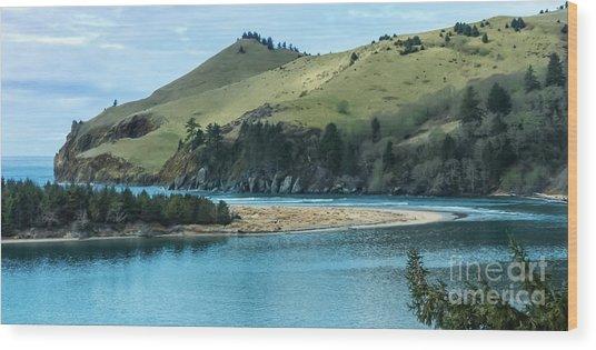 Cascade Head Panorama Wood Print