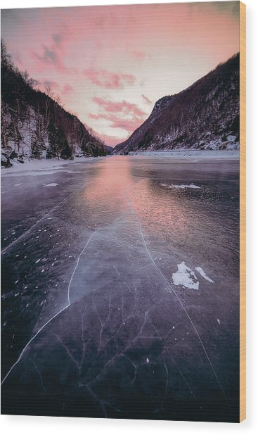 Cascade Ice Wood Print