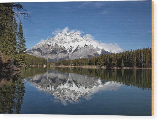 Cascade Mountain Wood Print