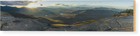 Cascade Mountain Sunset Wood Print