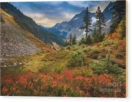 Cascade Pass Fall Wood Print