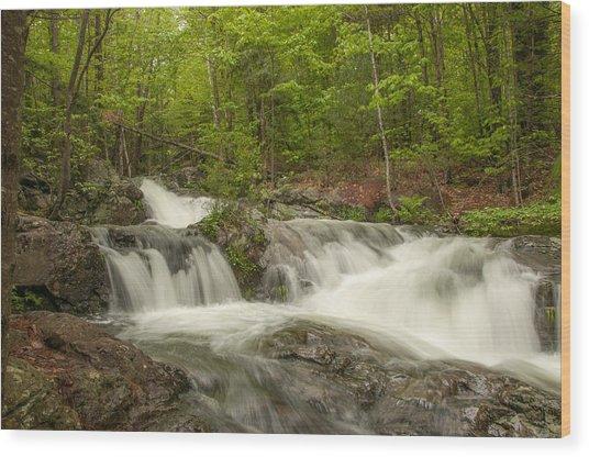 Cascades On The Brooks Falls Trail Wood Print