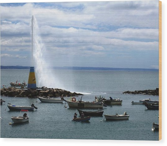 Cascais Fishing Boats Portugal Wood Print