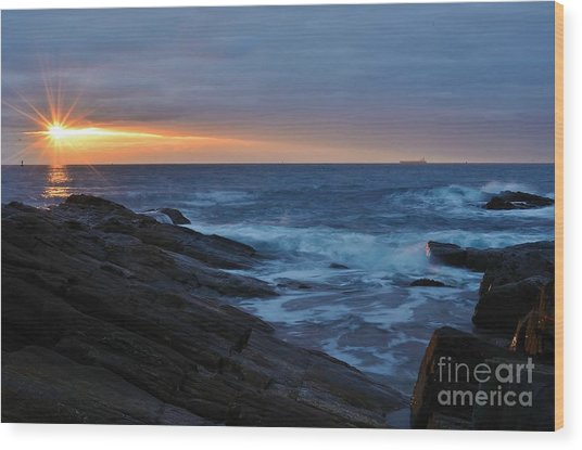 Casco Bay Wood Print