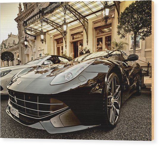 Casino Monte Carlo Vip Parking Wood Print