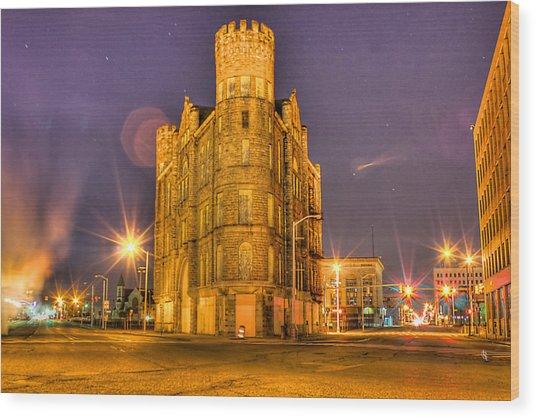 Cass Castle Detroit Mi Wood Print