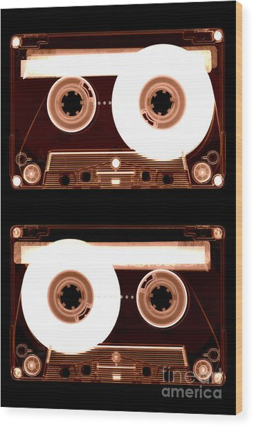 Cassette Tapes Wood Print