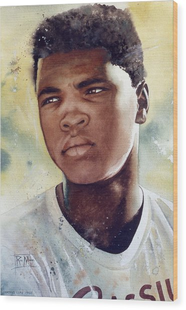 Cassius Clay Wood Print by Rich Marks
