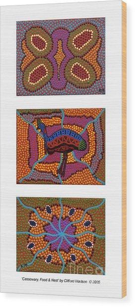 Cassowary - Food - Nest Wood Print