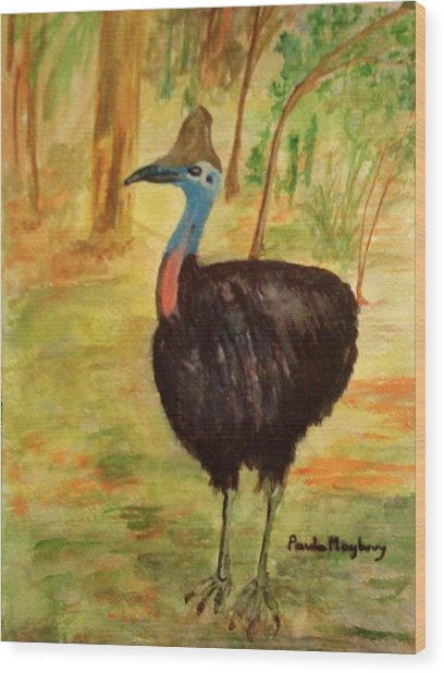 Cassowary Bird Wood Print