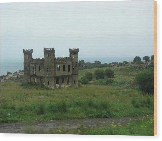 Castle Catania Sicily Wood Print