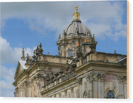 Castle Howard Roofline Wood Print