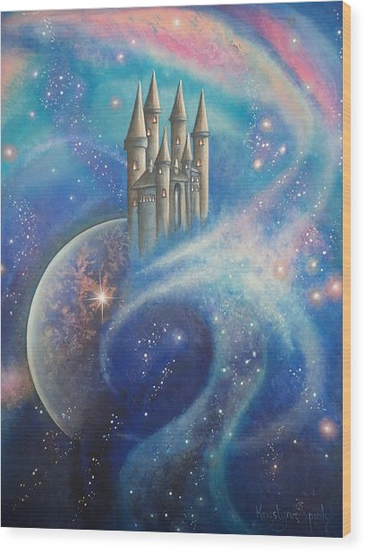 Castle In The Stars Wood Print