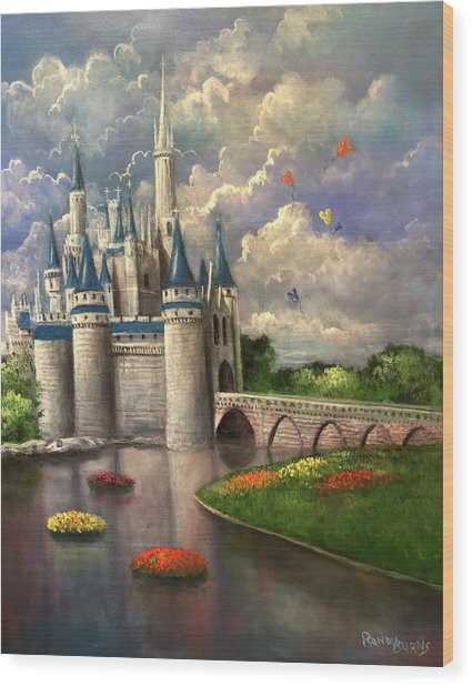 Castle Of Dreams Wood Print