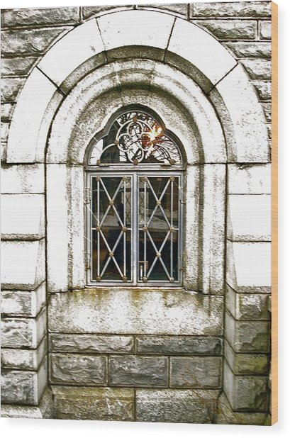 Castle Window Wood Print