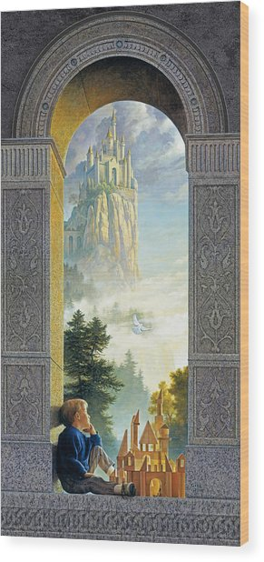 Castles In The Sky Wood Print