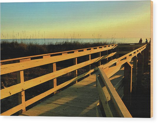 Caswell Sunset Wood Print