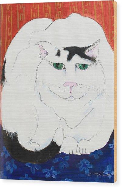 Cat II - Cat Dozing Off Wood Print