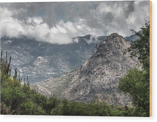 Catalina Mountains Wood Print