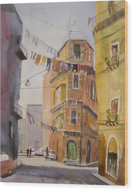 Catania - Blowing In The Wind Wood Print