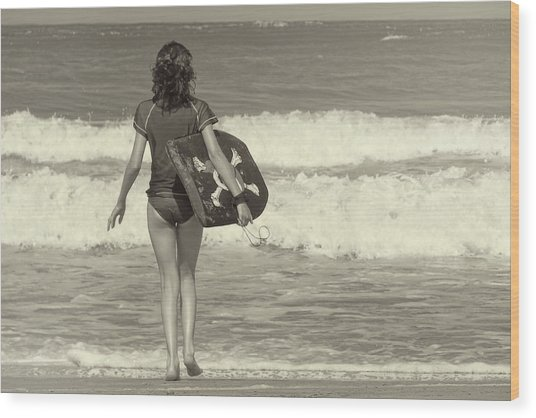 Catch A Wave Wood Print by JAMART Photography