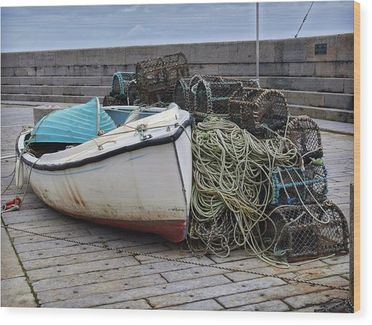 Catch Of The Day At Donaghadee Harbour Wood Print