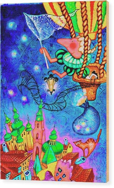 Catching Stars Wood Print by Inga Konstantinidou
