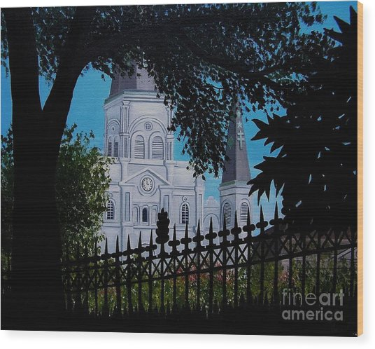 Cathedral At The Square Wood Print