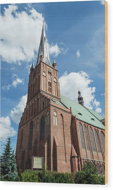 Cathedral Basilica Of St. James The Apostle, Szczecin A Wood Print