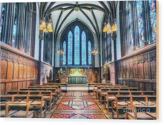 Cathedral Glow Wood Print