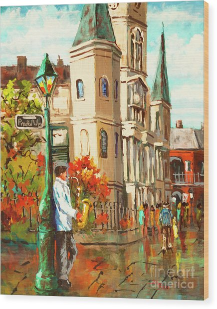 Cathedral Jazz Wood Print