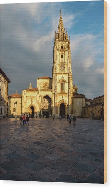 Cathedral Of Oviedo Wood Print