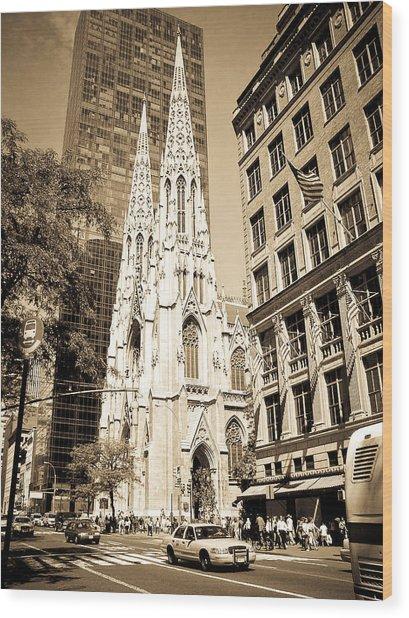 Cathedral Of Saint Patrick Wood Print
