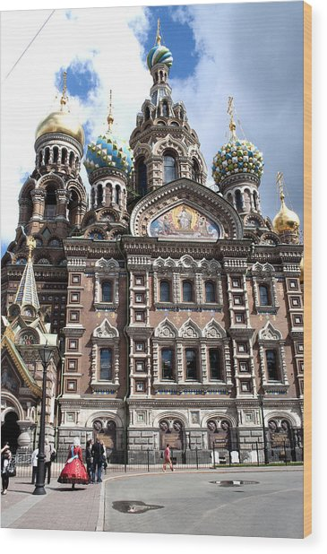 Cathedral Of The Spilled Blood C258 Wood Print by Charles  Ridgway