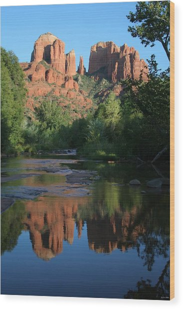 Cathedral Reflections Wood Print by Jimmy Fox