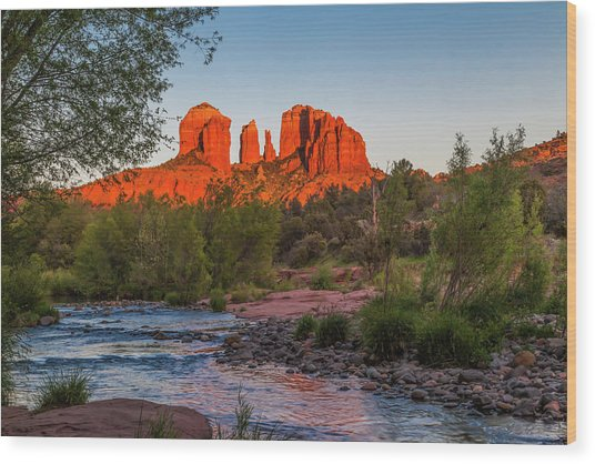 Cathedral Rock At Red Rock Crossing Wood Print