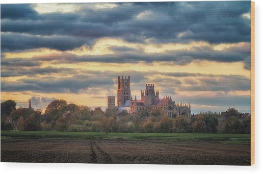 Cathedral Sunset Wood Print