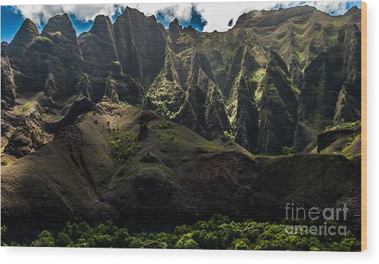 Cathedrals Na Pali Coast #2 Wood Print