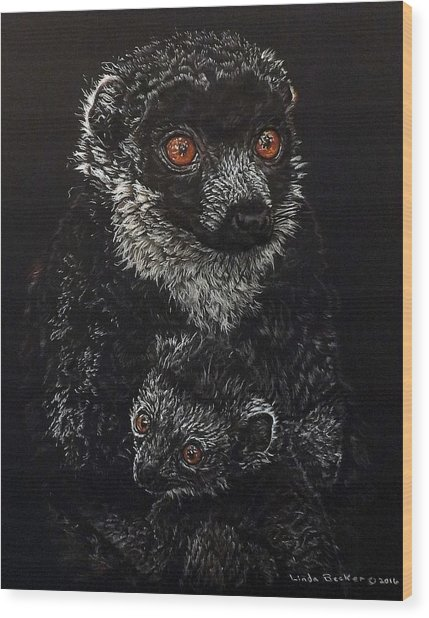 Catherina And Baby Abby Wood Print