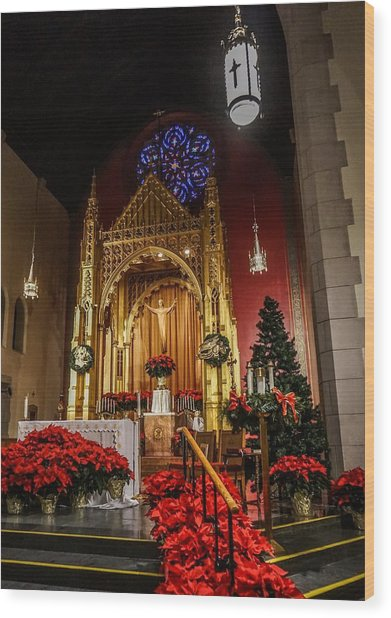 Catholic Christmas Wood Print