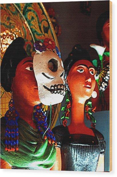 Catrina Of Mexico Ct-0003 Wood Print