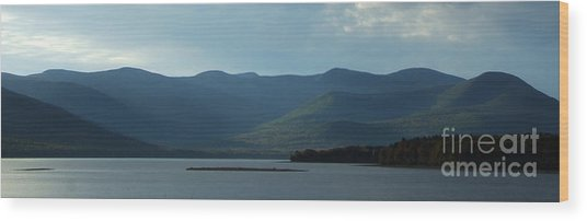 Catskill Mountains Panorama Photograph Wood Print