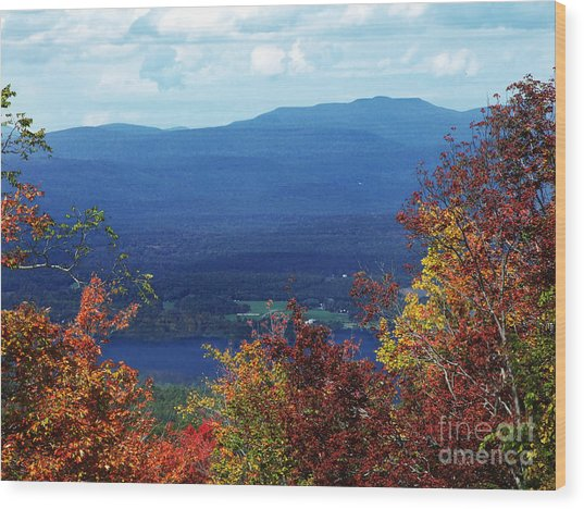 Catskill Mountains Photograph Wood Print