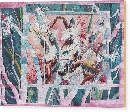Cattails Six Wood Print