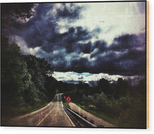 Wood Print featuring the photograph Caution by Al Harden
