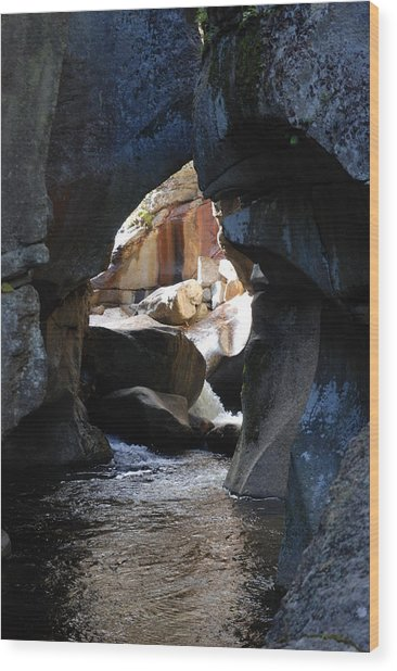 Cave Of Wonder Wood Print by Clay Peters Photography