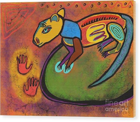 Cave Rat Wood Print